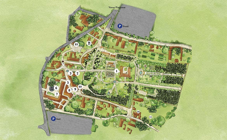 Mappa Grazzano Visconti